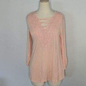 Maurices Soft NWT Light Pink Top Medium